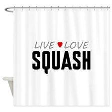 Live Love Squash Shower Curtain