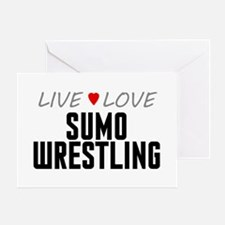 Live Love Sumo Wrestling Greeting Card