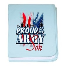 Proud of My Army Son baby blanket