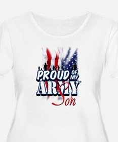 Proud of My Army Son Plus Size T-Shirt
