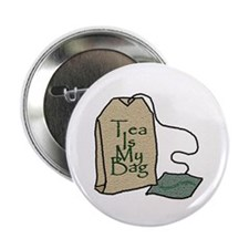 """Tea Is My Bag II"" - Button"
