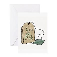 """Tea Is My Bag II"" - Greeting Card"
