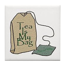 """Tea Is My Bag II"" - Tile Coaster"