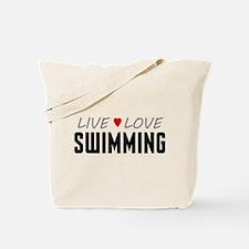 Live Love Swimming Tote Bag