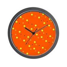 Orange Colorful Dots Sophie's Fave Wall Clock