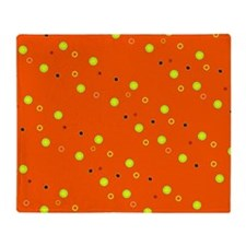 Orange Colorful Dots Sophie's Fave Throw Blanket