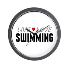 Live Love Swimming Wall Clock