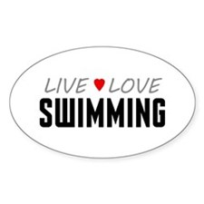 Live Love Swimming Oval Decal