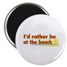 "Rather be at the Beach 2.25"" Magnet (10 pack)"