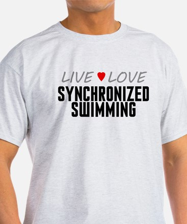 Live Love Synchronized Swimming T-Shirt