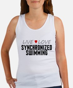 Live Love Synchronized Swimming Women's Tank Top