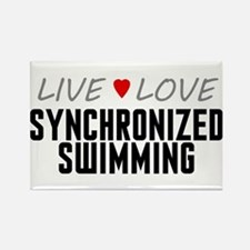 Live Love Synchronized Swimming Rectangle Magnet (