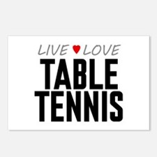 Live Love Table Tennis Postcards (Package of 8)