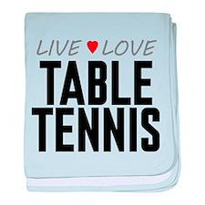 Live Love Table Tennis Infant Blanket