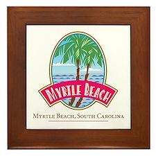 Retro Myrtle Beach - Framed Tile