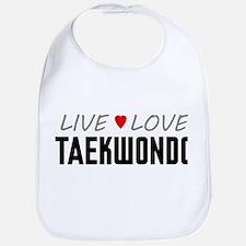 Live Love Taekwondo Bib