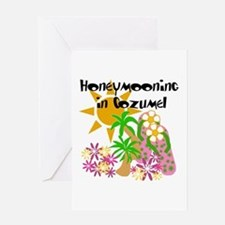 Honeymoon Cozumel Greeting Card
