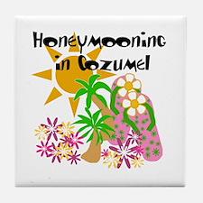 Honeymoon Cozumel Tile Coaster