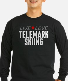 Live Love Telemark Skiing T