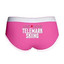 Live Love Telemark Skiing Women's Boy Brief