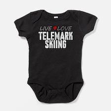 Live Love Telemark Skiing Baby Bodysuit