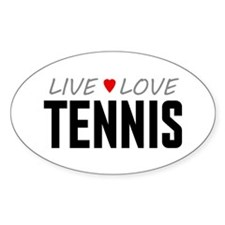 Live Love Tennis Oval Decal