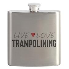 Live Love Trampolining Flask