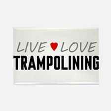 Live Love Trampolining Rectangle Magnet (100 pack)