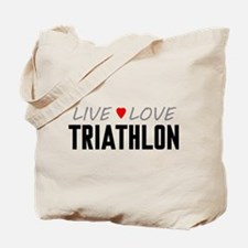 Live Love Triathlon Tote Bag