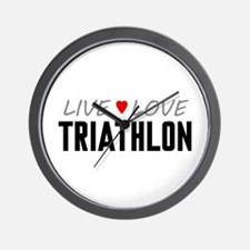 Live Love Triathlon Wall Clock