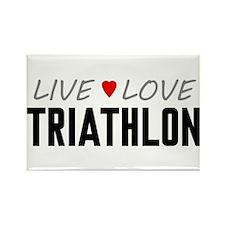 Live Love Triathlon Rectangle Magnet (100 pack)