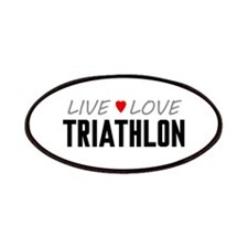Live Love Triathlon Patches