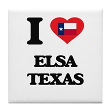 I love Elsa Texas Tile Coaster