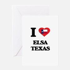I love Elsa Texas Greeting Cards