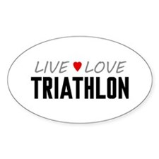 Live Love Triathlon Oval Decal