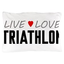 Live Love Triathlon Pillow Case