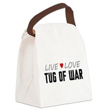 Live Love Tug of War Canvas Lunch Bag
