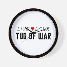 Live Love Tug of War Wall Clock