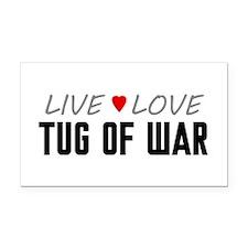 Live Love Tug of War Rectangle Car Magnet
