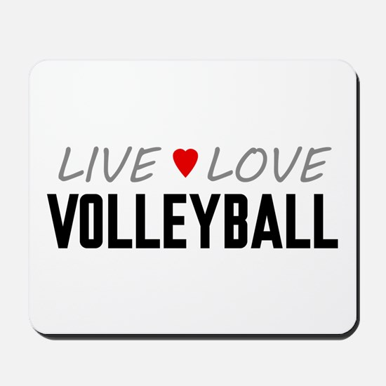 Live Love Volleyball Mousepad