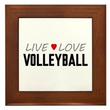 Live Love Volleyball Framed Tile