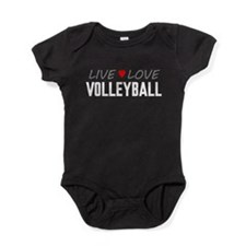 Live Love Volleyball Baby Bodysuit