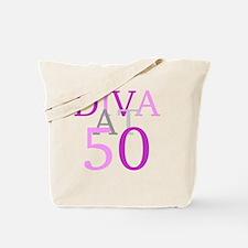 Diva At 50 Tote Bag