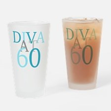 Diva At 60 Drinking Glass