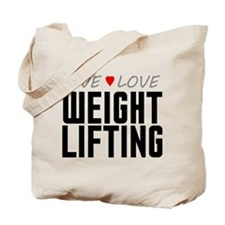 Live Love Weight Lifting Tote Bag
