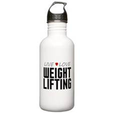 Live Love Weight Lifting Water Bottle