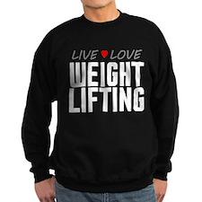 Live Love Weight Lifting Dark Sweatshirt