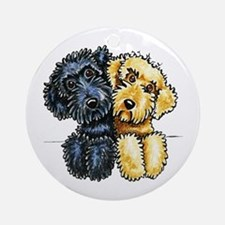 Labradoodles Lined Up Ornament (Round)