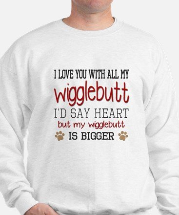 I Love You With All My Wigglebutt Red Sweatshirt