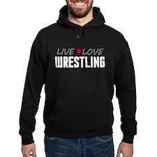 Live Love Wrestling Dark Hoodie